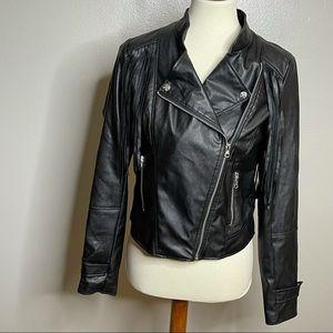Miss London Pleather Fringe Rocker Jacket